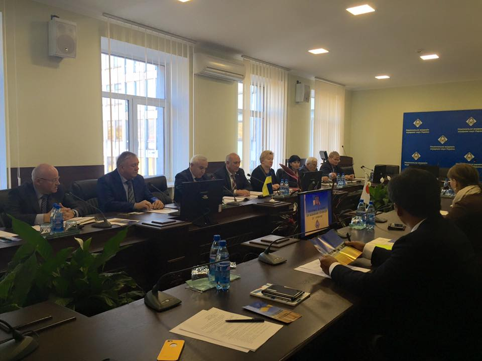 Leaders of the National Academy of Agrarian Sciences of Ukraine negotiate with leaders of the National scientific and technological association of Ukraine and with the representatives of the Nepuree company (Japan)